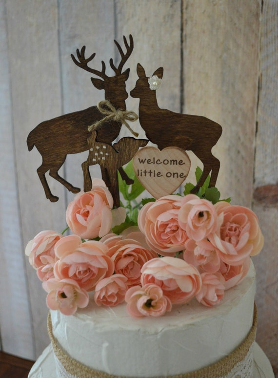Buck And Doe Baby Shower Cake Topper