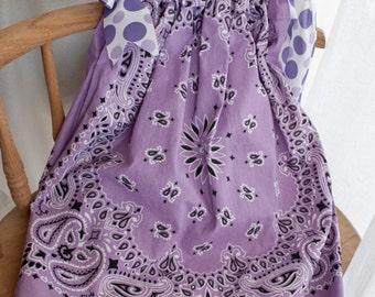 Girls Lavender Handkerchief Dress