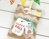 Fall Gift Tags /  Product Packaging / Party Favor Tags / Pumpkin Tags / Halloween Favor Tags / Thanksgiving Tags / Packaging Supplies