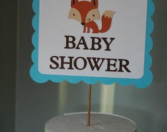 Fox Baby Shower Sign, Fox Sign, Fox Buffet Sign, Fox Baby Shower