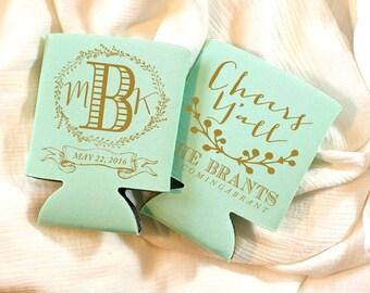 Cheers Yall Wedding Favors Monogrammed Monograms