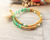 Adjustable Wrap Bracelet - Gypsy Wrap Bracelet - Double Wrap Bracelet - Yoga Bracelet - Boho Wrap Bracelet - Gift for Her