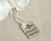 Personalized Necklace . Blessed Floral Pendant . Blessed Mama . Mommy Jewelry . Gift For Mom . Floral Necklace . Faith Jewelry . Grandmother