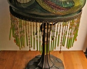 Handel Table Lamp with Reverse Painted Dragon 1903