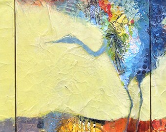 Heron Bird Original Painting
