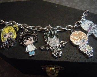 Death Note Bracelet, Anime Jewelry, Anime Charm Bracelet, Geek Gifts,