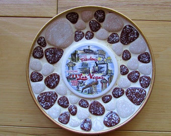 Las Vegas Pebble Ashtray Souvenir Vintage