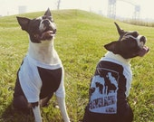 Cleveland Smokestacks - American Apparel Dog Baseball Tee (Black and White)