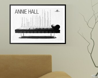"Annie Hall, Woody Allen Movie Poster Print, Fan Art (19""x13"")"
