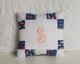 12x12 Custom Monogram Pillow