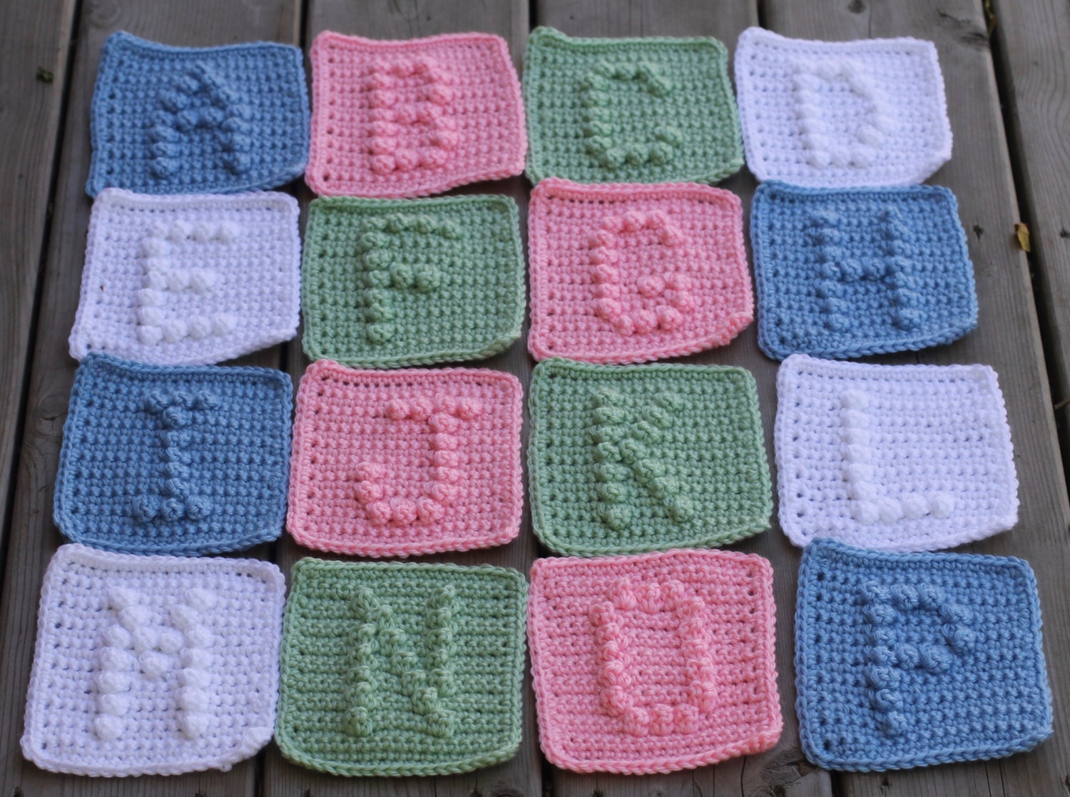 Crochet Pattern For Abc Baby Blanket : UPPER CASE Alphabet Letters A-Z Crochet Pattern with Bonus ...