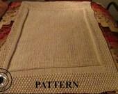 Knitting Pattern: Gender Neutral Bulky Yarn Knit Baby Blanket Pattern *Instant Download*