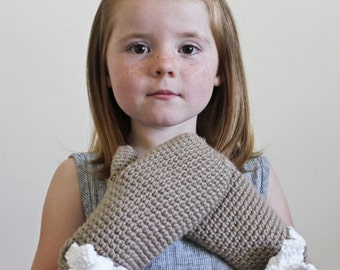 Crochet Pattern: The May Mittens -Toddler, Child, & Adult Sizes- Bow, warm, quick and easy