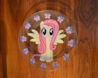 Fluttershy glass plate