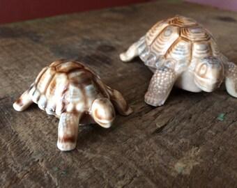 Pair- Wade Whimsies Porcelain Turtles