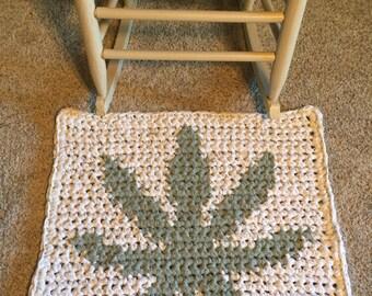 Original Crochet PATTERN 420 Rag Rug or Polyolefin Outdoor Mat