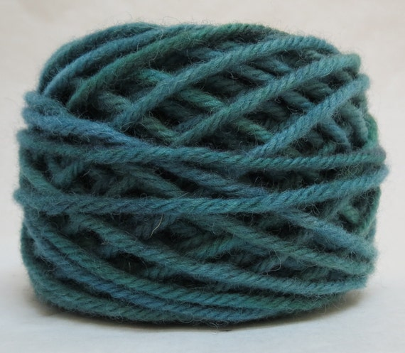 LOMOND BLUE, 100% Wool, 2 oz 43 yards, 4-Ply Bulky weigh or 3-ply Worsted weight yarn, already wound into cakes, ready to use. Made to order