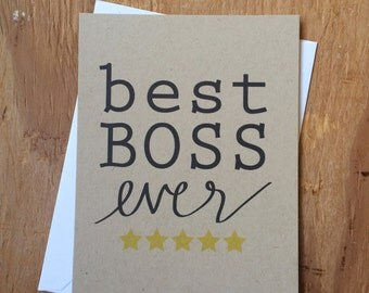 Boss's Day greeting Card / Thank You