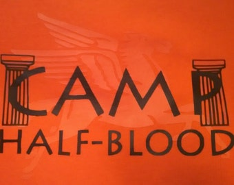 """Camp Half-Blood T-Shirt (Child or Adult) - """"invisible"""" pegasus tee"""