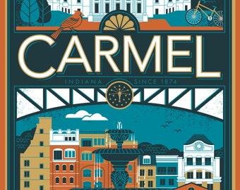 Carmel, Indiana Poster