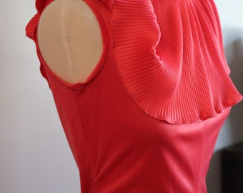 vtg 70s LUXE GLAMOUR maxi dress sleek small medium