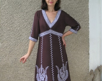 Vintage Lysgaard Embroidered Dress, size S-M