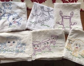 Cotton Kitchen Towels with Darling Embroidery!