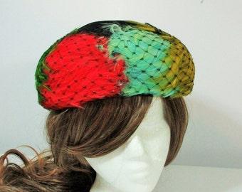 Vintage 1960s El Ritas Feather Hat