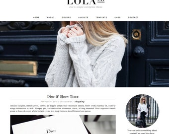 "Wordpress Theme Responsive Blog Design ""Lola"" - Photography, Slider"
