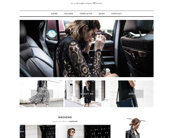 "Wordpress Theme Responsive Ecommerce Theme Design ""Lauren"" - Genesis Website Theme"