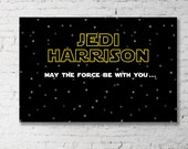 STAR WARS Backdrop Design for Birthday Party - The Force Awakens - Jedi - Printable File - Print Your Own - Avengers Inspired