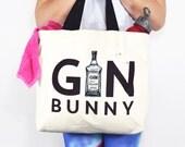 Gym Bag, Gym and Tonic, Gym Bunny, Womens Gym Bag, Gift for Her, Gym Gift, Womens Bag, Gin & Tonic, Shopping Bag, Tote Bag, Gin Bag, Funny