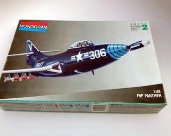 Hold for Mylene - Monogram 1/48th Scale F9F Panther Jet Model Kit