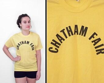CHATHAM Fair Shirt 1980s // Screen Stars Yellow Women's M Men's S