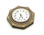 Vintage Ceramic Clock, Wall Clock, Wall hanging Kitchen Clock, From Germany70s, Green clock, Junghans wall clock