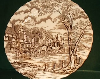 Myott Royal Mail Staffordshire England Dinner Plate Antique Hand Engraved Ironstone Iron Stone Replacement Dinnerware Plate
