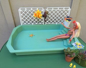 Barbie Doll House Seahorse in PARADISE POOL VIGNETTE Room Furniture & Accessories Outdoor Patio Swimming bikini Spa