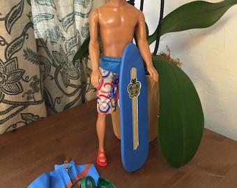 Barbie Doll House SURF'S UP VIGNETTE Room Furniture & Accessories Ken Swim