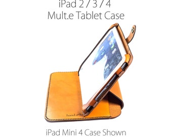 iPad 2 / 3 / 4 Case Stand, All Leather iPad case, iPad 4 cover, iPad 3 case, leather iPad 2 stand, ipad case, ipad stand, custom ipad case