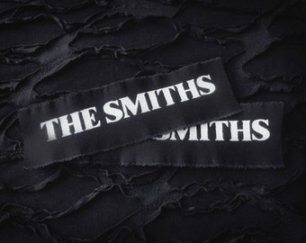 The Smiths Logo Goth Punk Patch - Black, White