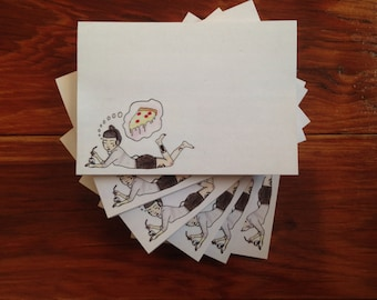 Pizza Lady Post-It Notes