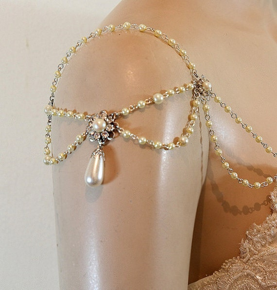 Bridal Shoulder Epaulettes Bridal Accessories Pearls