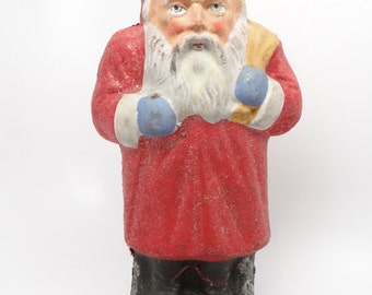 1930's 10 3/4 Inch German Belsnickle Santa Antique Christmas Candy Container