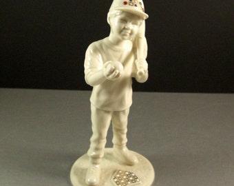 Vintage Lenox China Jewels CJ MVP Baseball Boy Figurine as New