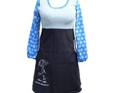 After rain comes sunshine_ womens jersey/denim dress with pockets_baby blue/blue