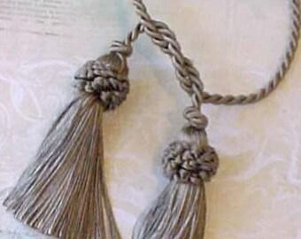 Lovely Vintage Silky Tassel in Mossy Ecru Color