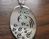 Silver Handmade Peacock Pendant Necklace