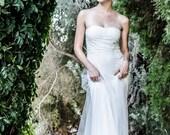 Boho Wedding Dress Bohemian Wedding Dress Beach Wedding Dress Strapless Tulle Wedding Dress Paulastudio Wedding Dress