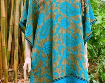 Bohemian Kaftan, Caftan, Blue Kaftan, Cover up, Summer Dress