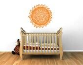 Geometric Sun wall decal, geometry sunburst decal